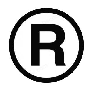 trademark symbol r - Evolist.co R Symbol