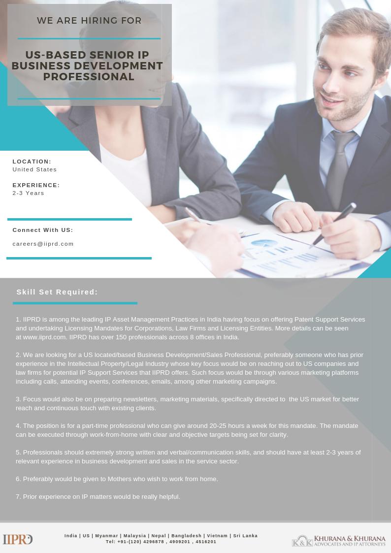 US-Based Senior IP Business Development Professional